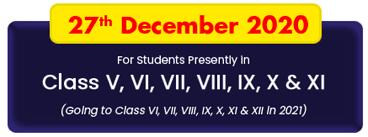 FIITJEE Talent Reward Exam (FTRE) to be held on 27th Dec 2020
