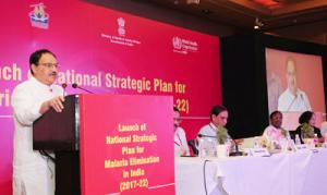 J P Nadda launches the National Strategic Plan